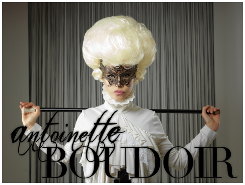 50 shades of grey meets marie antoinette boudoir photography