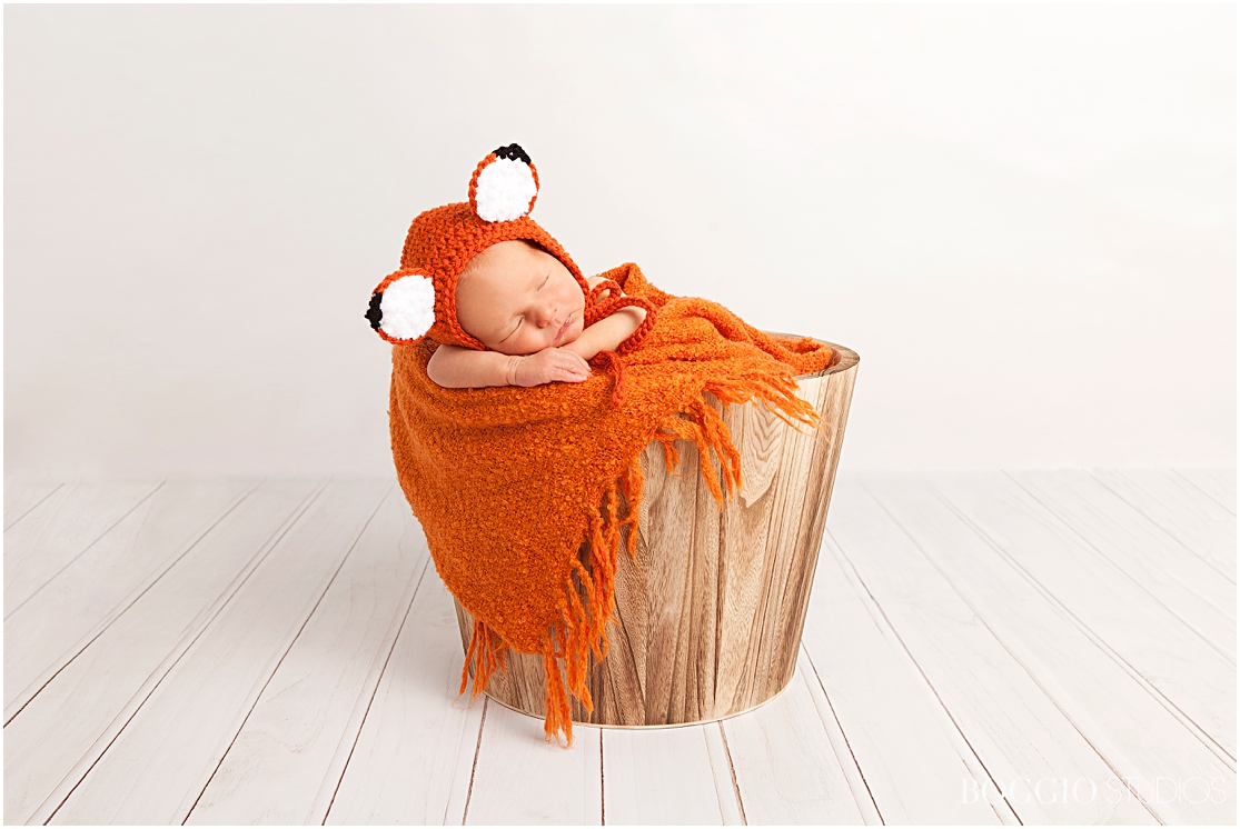 Fox knit outfit for newborn