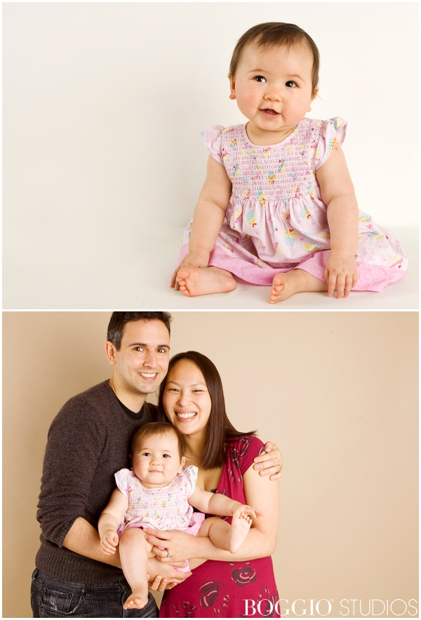 Studio shoot with 7 month old baby