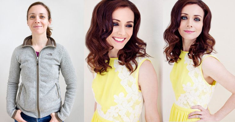Before and After makeover shoot SW London