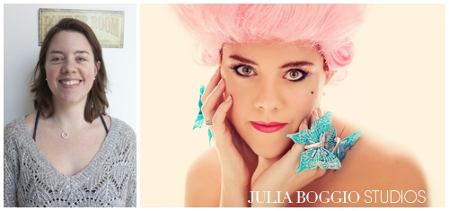 Before and after for boudoir photo shoot at Julia Boggio Studios