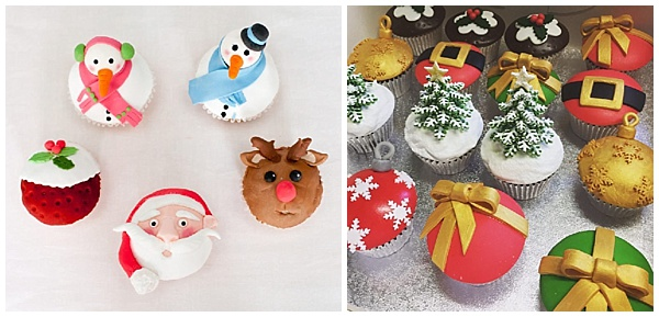 Christmas cupcakes in London