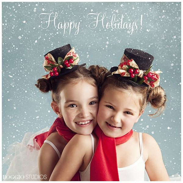 little girls Christmas card