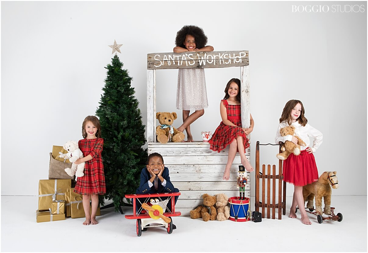 Christmas card photoshoot