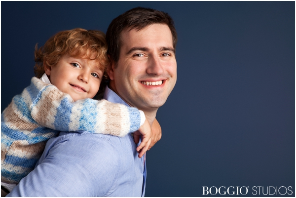 Father's Day photoshoot with son