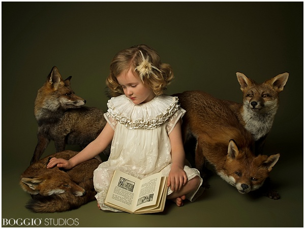 Photography with children and foxes