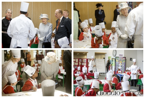 Idras Caldora from Chefs Adopt a School meets the Queen as part of her Diamond Jubilee by Julia Boggio