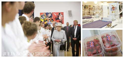 The Queen meets the students from the University of West London by Julia Boggio