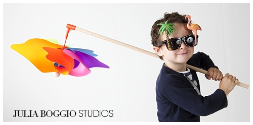 Stylish French boy at Julia Boggio pop-up photography studio at Bubble London