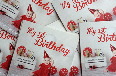 Birthday card and birth inspiration for first baby by Julia Boggio