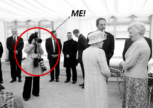 Julia Boggio photographs the Queen at St Marks Academy in Merton