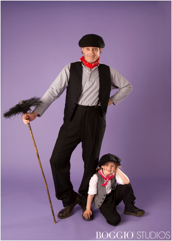 Chimney sweeps costume for Mary Poppins photo shoot