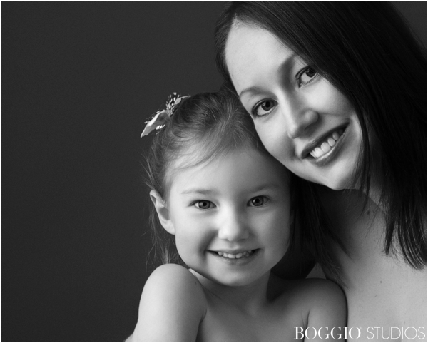 Black and white family portraits London