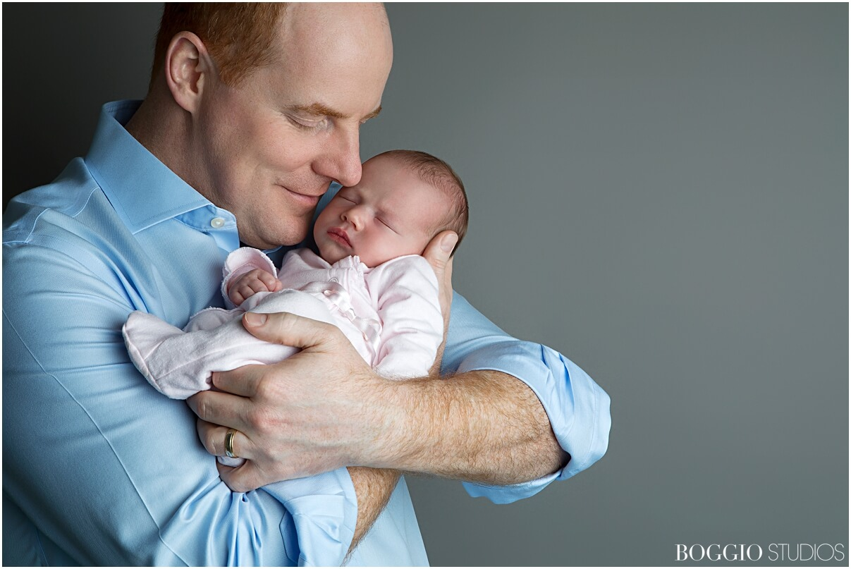 Father and baby portraits