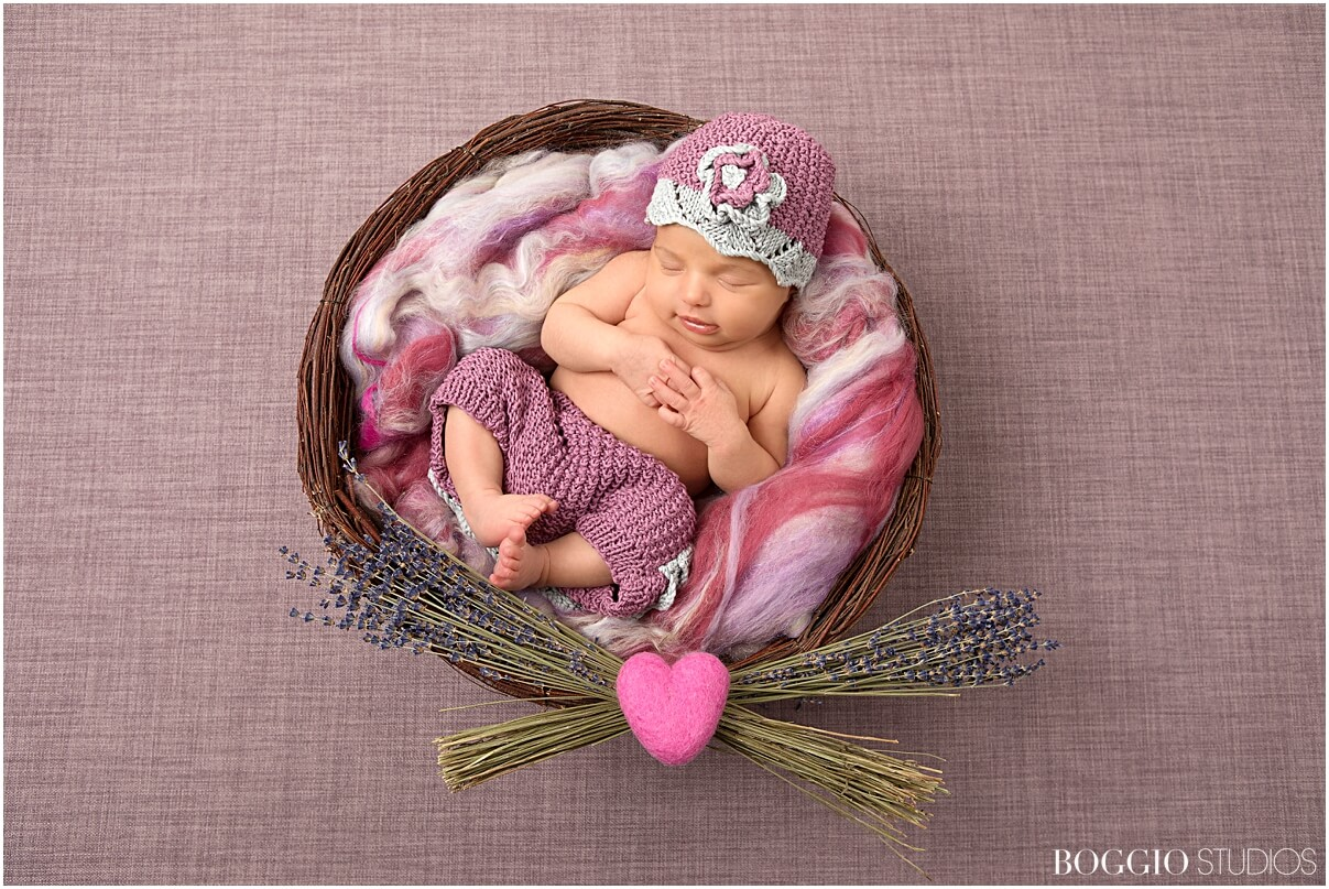 Styled newborn photoshoot