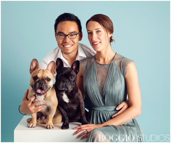 quirky family photo with pets