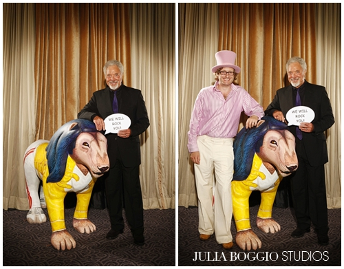 Sir Tom Jones at the Freddie for a Day charity ball photographed by Julia Boggio
