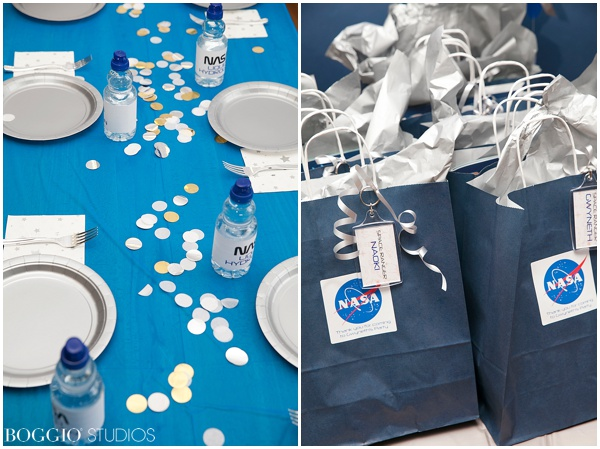 Space birthday goody bags