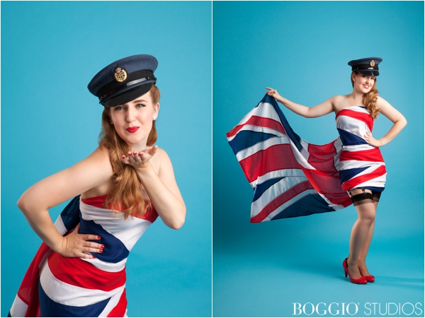 RAF themed pin up