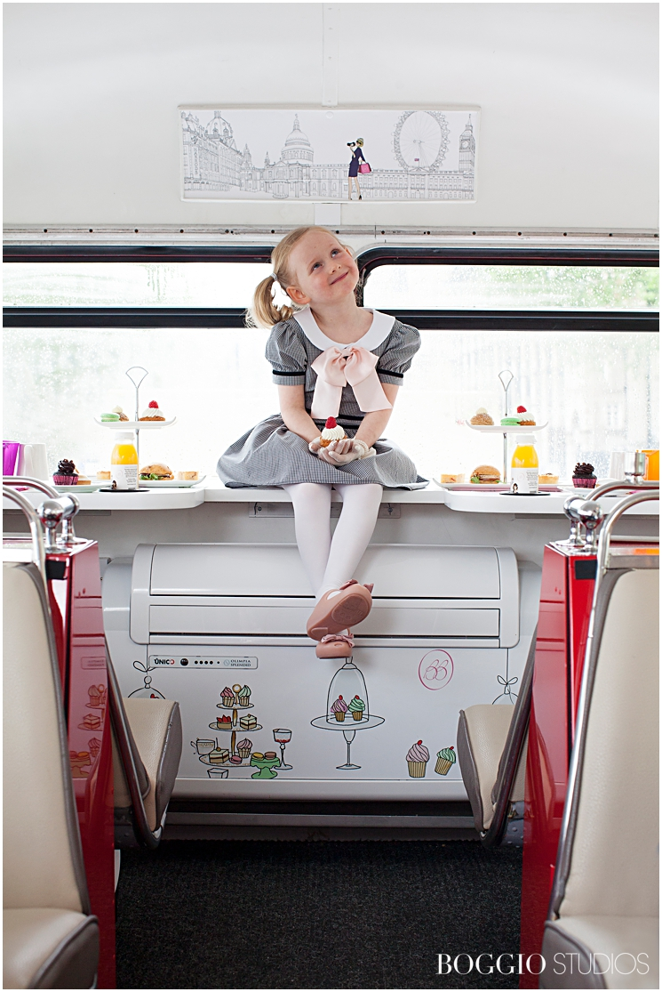 Afternoon Tea on a bus in London