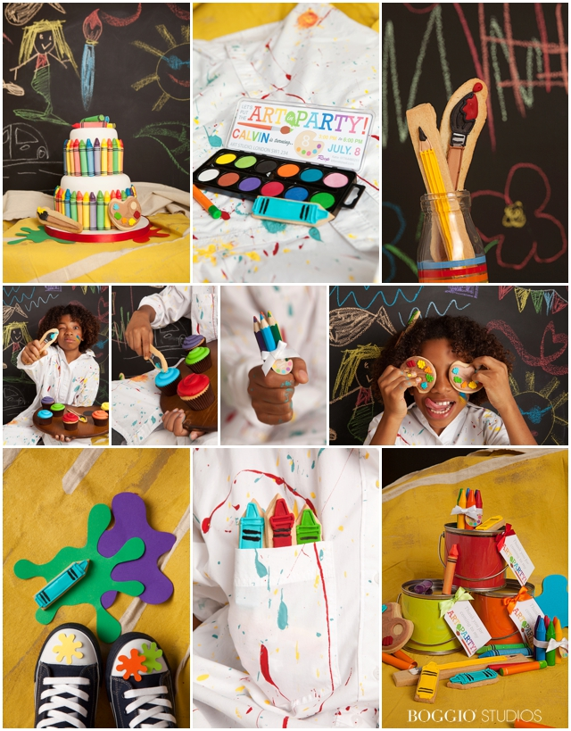 party details for an art themed birthday party