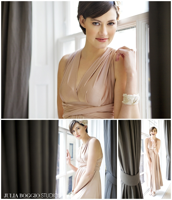 model wearing twobirds bridesmaid dresses, photographed by Julia Boggio