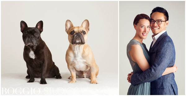 Fun couples shoot with dogs