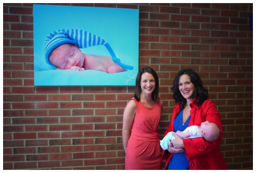 Canvases donated to Kingston Maternity Hospital of gorgeous baby and pregancy portraits