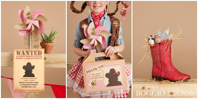 Western themed party favours